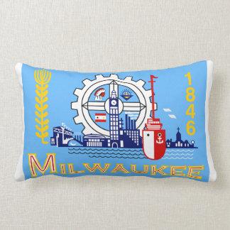 Milwaukee flag throw pillows