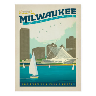 Milwaukee Harbor, Wisconsin Postcard