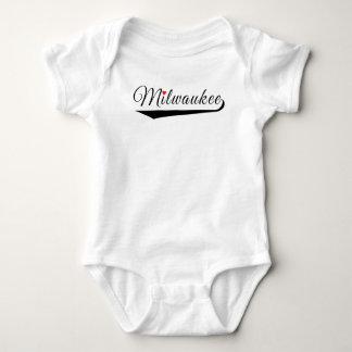 Milwaukee Heart Logo Baby Bodysuit