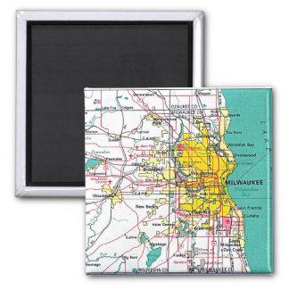 Milwaukee Square Magnet
