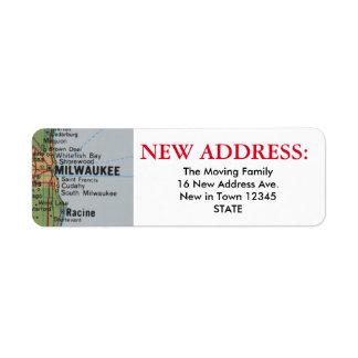 Milwaukee New Address Label