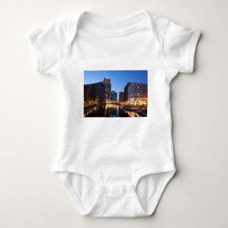 Milwaukee Night Skyline Baby Bodysuit