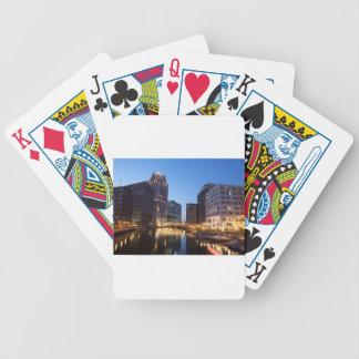 Milwaukee Night Skyline Bicycle Playing Cards