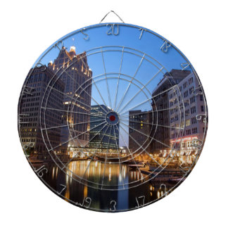 Milwaukee Night Skyline Dartboard