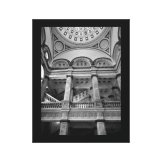 Milwaukee Public Library Interior Canvas Print