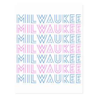 Milwaukee Retro Tile Design Postcard