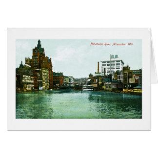 Milwaukee River, Milwaukee, Wisconsin Card