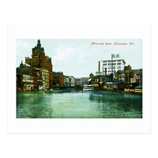 Milwaukee River, Milwaukee, Wisconsin Postcard