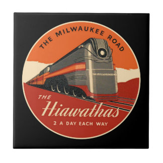Milwaukee Road Hiawatha Train Ceramic Tile