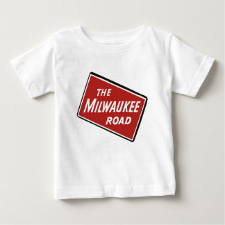 Milwaukee Road Railway Sign 2 Baby T-Shirt