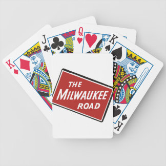 Milwaukee Road Railway Sign 2 Bicycle Playing Cards