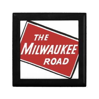 Milwaukee Road Railway Sign 2 Gift Box