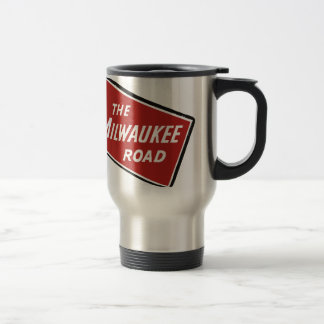 Milwaukee Road Railway Sign 2 Travel Mug