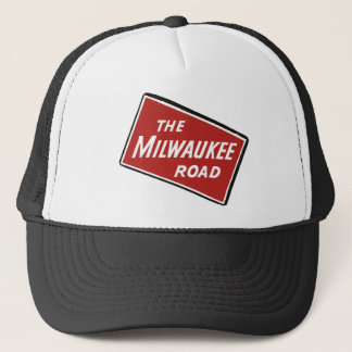 Milwaukee Road Railway Sign 2 Trucker Hat