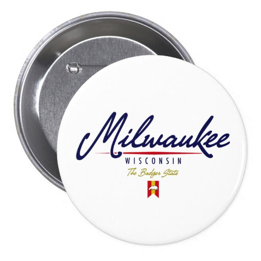 Milwaukee Script Pinback Button