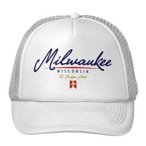 Milwaukee Script Trucker Hats