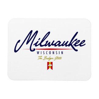Milwaukee Script Magnet