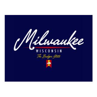 Milwaukee Script Postcard