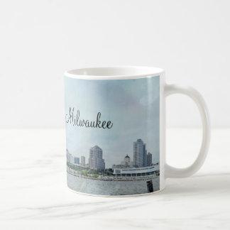 Milwaukee shoreline basic white mug