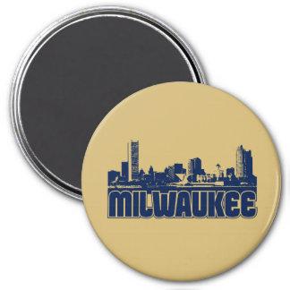 Milwaukee Skyline 3 Inch Round Magnet