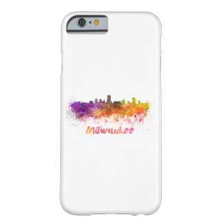 Milwaukee skyline in watercolor barely there iPhone 6 case