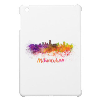 Milwaukee skyline in watercolor iPad mini case