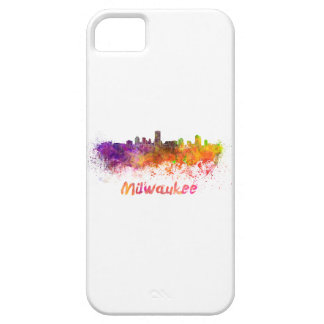 Milwaukee skyline in watercolor iPhone 5 cases