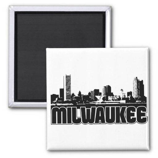 Milwaukee Skyline Refrigerator Magnets
