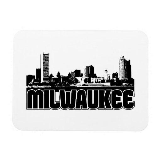 Milwaukee Skyline Vinyl Magnets