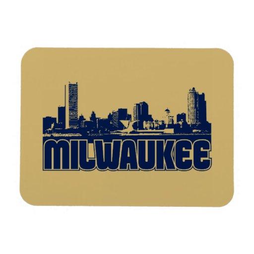 Milwaukee Skyline Magnets