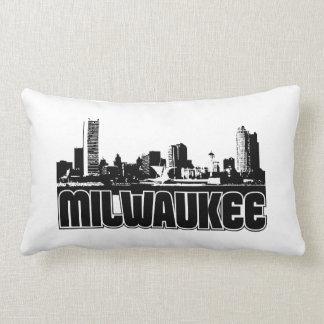 Milwaukee Skyline Throw Pillow