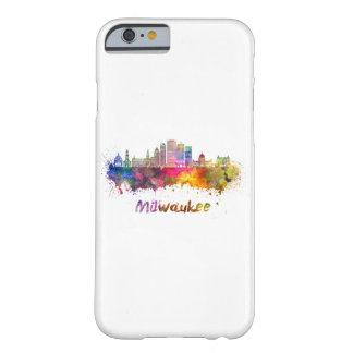 Milwaukee V2 skyline in watercolor Barely There iPhone 6 Case