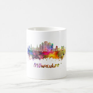 Milwaukee V2 skyline in watercolor Coffee Mug