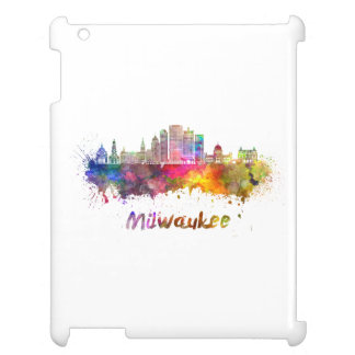 Milwaukee V2 skyline in watercolor iPad Cover