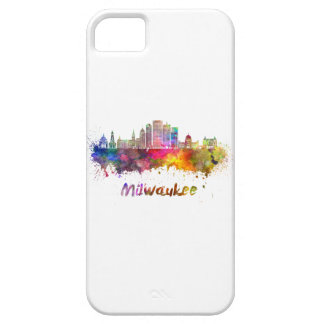 Milwaukee V2 skyline in watercolor iPhone 5 Cover