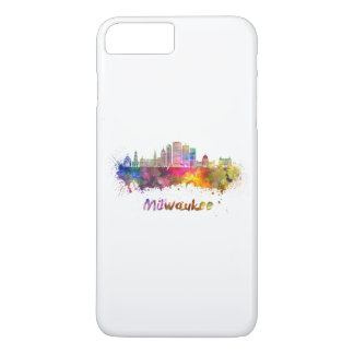 Milwaukee V2 skyline in watercolor iPhone 8 Plus/7 Plus Case