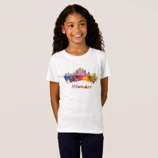 Milwaukee V2 skyline in watercolor T-Shirt