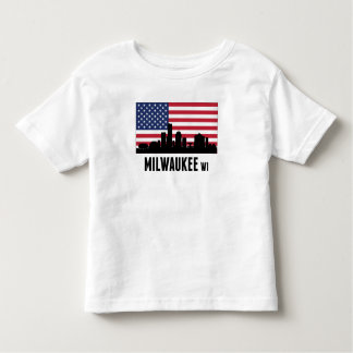 Milwaukee WI American Flag Toddler T-shirt