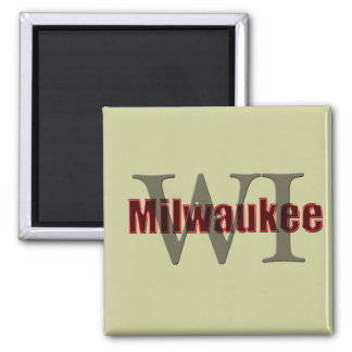 milwaukee wi red square magnet