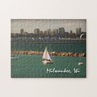 Milwaukee, WI Skyline Jigsaw Puzzle