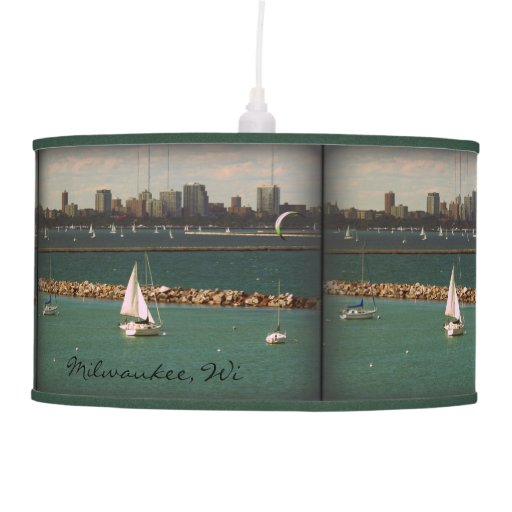 Milwaukee, WI Skyline Lamp