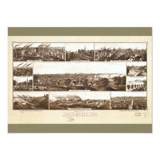 Milwaukee, Wisconsin by Beck & Pauli (1882) Card