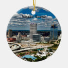Milwaukee, Wisconsin cityscape Ceramic Ornament
