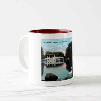 Milwaukee, Wisconsin, Humboldt Park, Vintage Two-Tone Coffee Mug