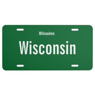 Milwaukee, Wisconsin License Plate