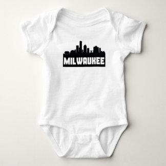 Milwaukee Wisconsin Skyline Baby Bodysuit