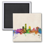 Milwaukee Wisconsin Skyline Cityscape Square Magnet