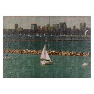 Milwaukee, Wisconsin Skyline Cutting Boards