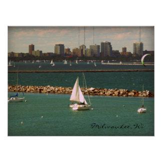 Milwaukee, Wisconsin Skyline Perfect Poster