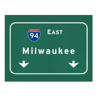 Milwaukee Wisconsin wi Interstate Highway Freeway Postcard